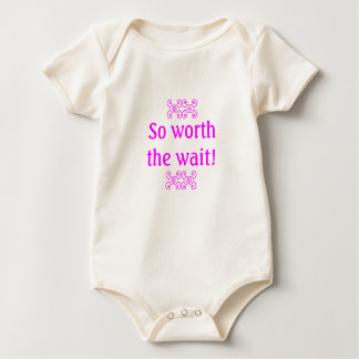 So worth the wait baby bodysuit