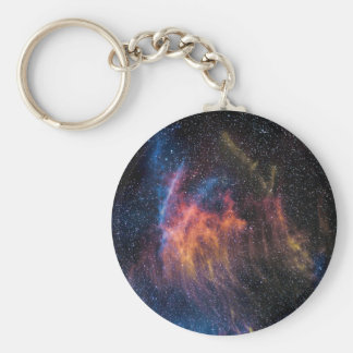 Soace Nebula Basic Round Button Keychain