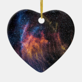 Soace Nebula Ceramic Heart Ornament
