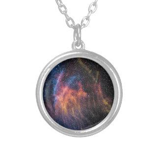 Soace Nebula Silver Plated Necklace