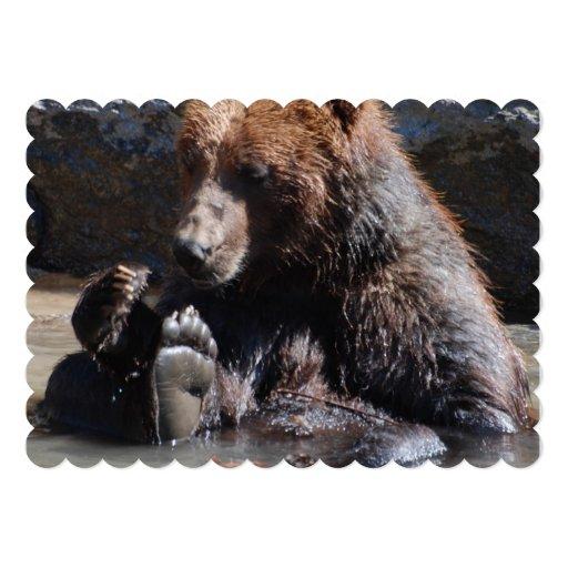 Soaking Bear Personalized Invitation