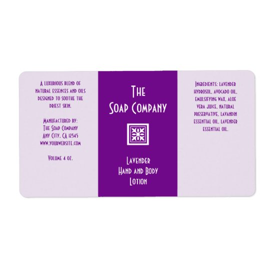 Soap and Bath Products Label - Lavender Shipping Label