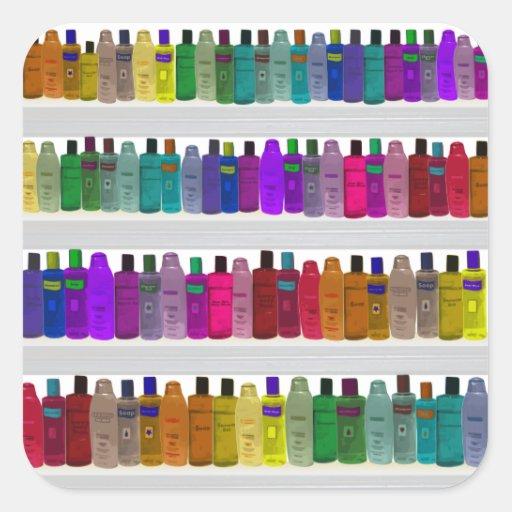 Soap Bottle Rainbow - for bathrooms, salons etc Sticker