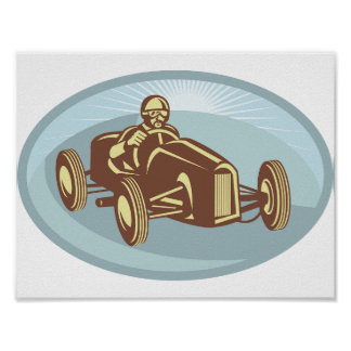 Soap Box Derby Car Poster
