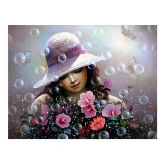 soap bubble girl - rose Sharon of song Postcard