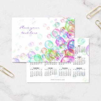 Soap Bubbles 2018 Business Card