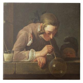Soap Bubbles, c. 1733- 34 (oil on canvas) Tile