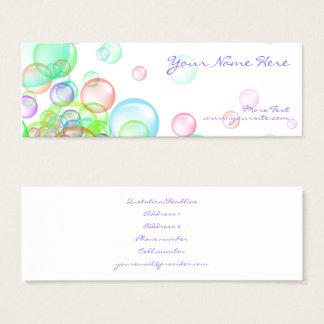 Soap Bubbles Mini Business Card