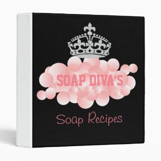 Soap Diva Soap Maker Recipe Cookbook Vinyl Binders