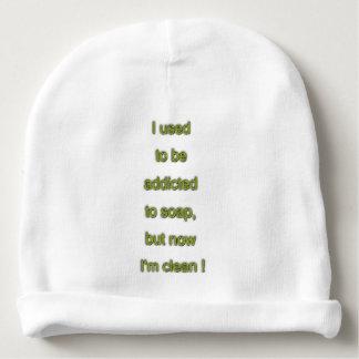 Soap funny text baby beanie