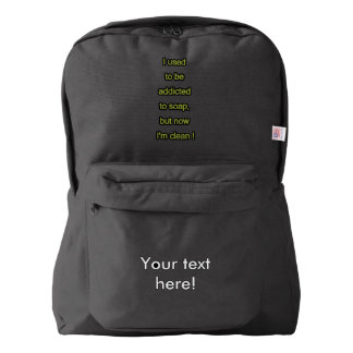 Soap funny text backpack