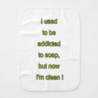 Soap funny text burp cloth
