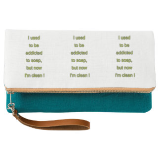 Soap funny text clutch
