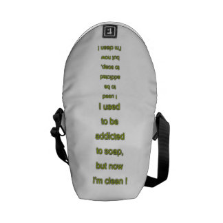 Soap funny text commuter bags
