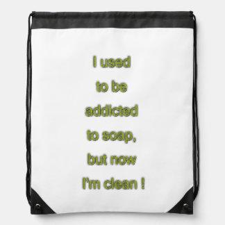Soap funny text drawstring bag