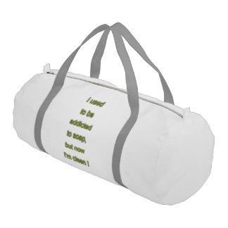 Soap funny text gym bag