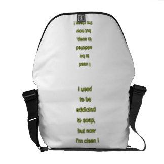 Soap funny text messenger bag