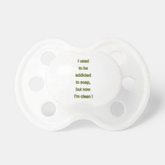 Soap funny text pacifier