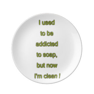 Soap funny text plate