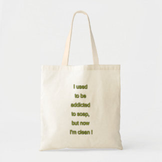 Soap funny text tote bag
