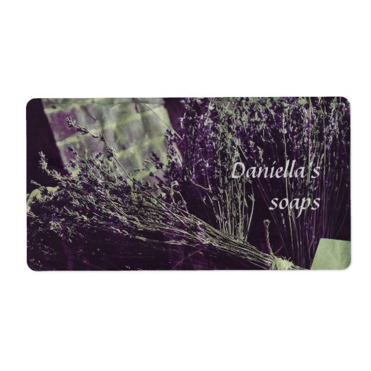 Soap label - lavender shipping label