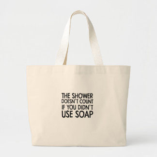 soap large tote bag