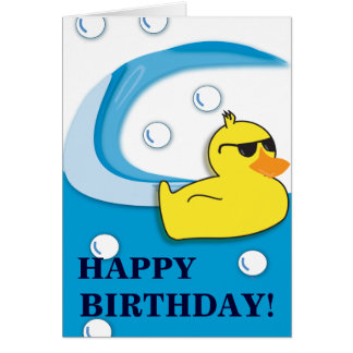Soapy Duck - Birthday Card