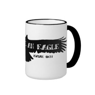 SOAR LIKE AN EAGLE RINGER COFFEE MUG