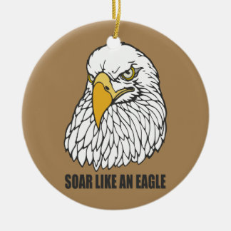 Soar Like an Eagle Round Ceramic Ornament