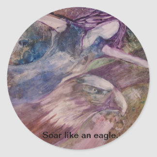 """Soar Like An Eagle"" Sticker"