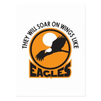SOAR LIKE EAGLES POSTCARD