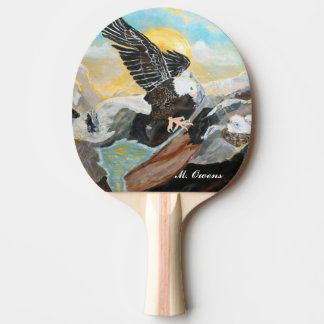 """Soar Like Wings On An Eagle"" Ping Pong Paddle"