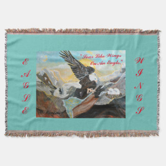 """""""Soar Like Wings On An Eagle"""" Throw Blanket"""