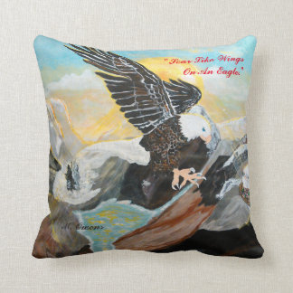 """Soar Like Wings On An Eagle."" Throw Pillow"