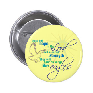 Soar on Wings Christian Scripture button badge