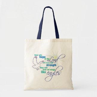 Soar on Wings Christian Scripture tote bag