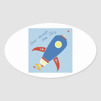 Soar Through The Sky Oval Stickers