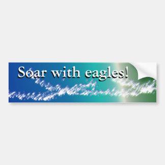 Soar with eagles car bumper sticker