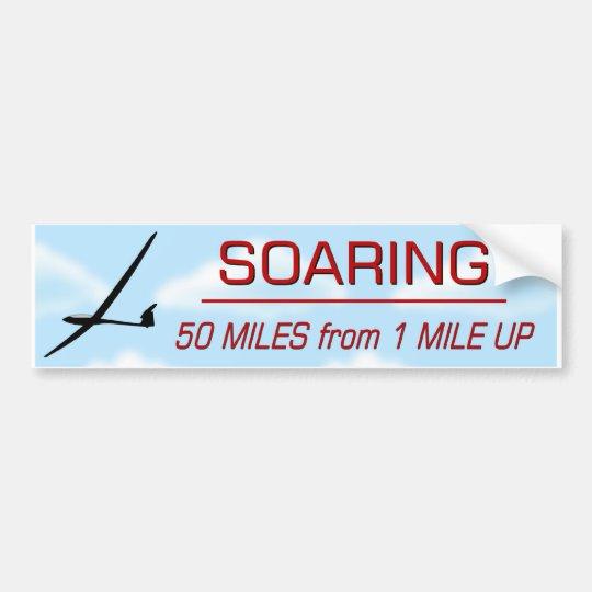 Soaring 50:1 Distance Bumper Sticker