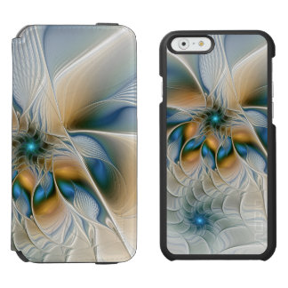 Soaring, Abstract Fantasy Fractal Art With Blue Incipio Watson™ iPhone 6 Wallet Case