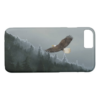 Soaring Bald Eagle & Alaskan Forest Device Case