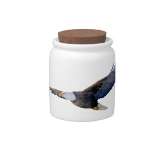 Soaring Bald Eagle Candy Jars