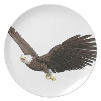 Soaring Bald Eagle Dinner Plates