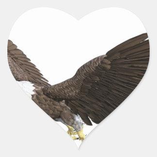 Soaring Bald Eagle Heart Sticker
