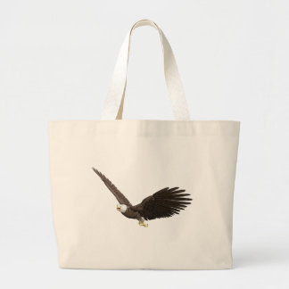 Soaring Bald Eagle Large Tote Bag