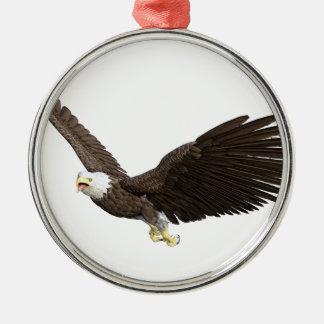 Soaring Bald Eagle Metal Ornament