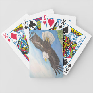 Soaring Bald Eagle Playing Cards