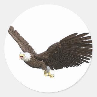 Soaring Bald Eagle Round Sticker