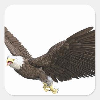 Soaring Bald Eagle Square Sticker