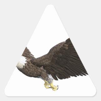 Soaring Bald Eagle Triangle Sticker
